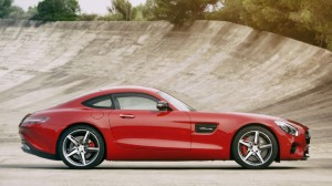 AMG GT SIDE PROFILE RED